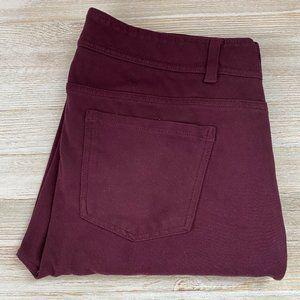 Maurices   Skinny Burgundy Pants